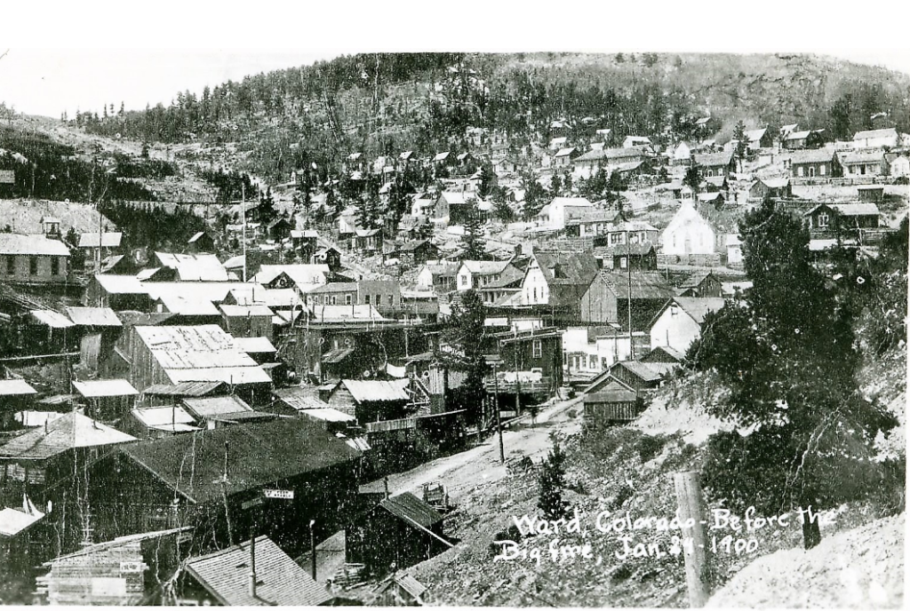 Image of Town of Ward, January 1900, before the fire